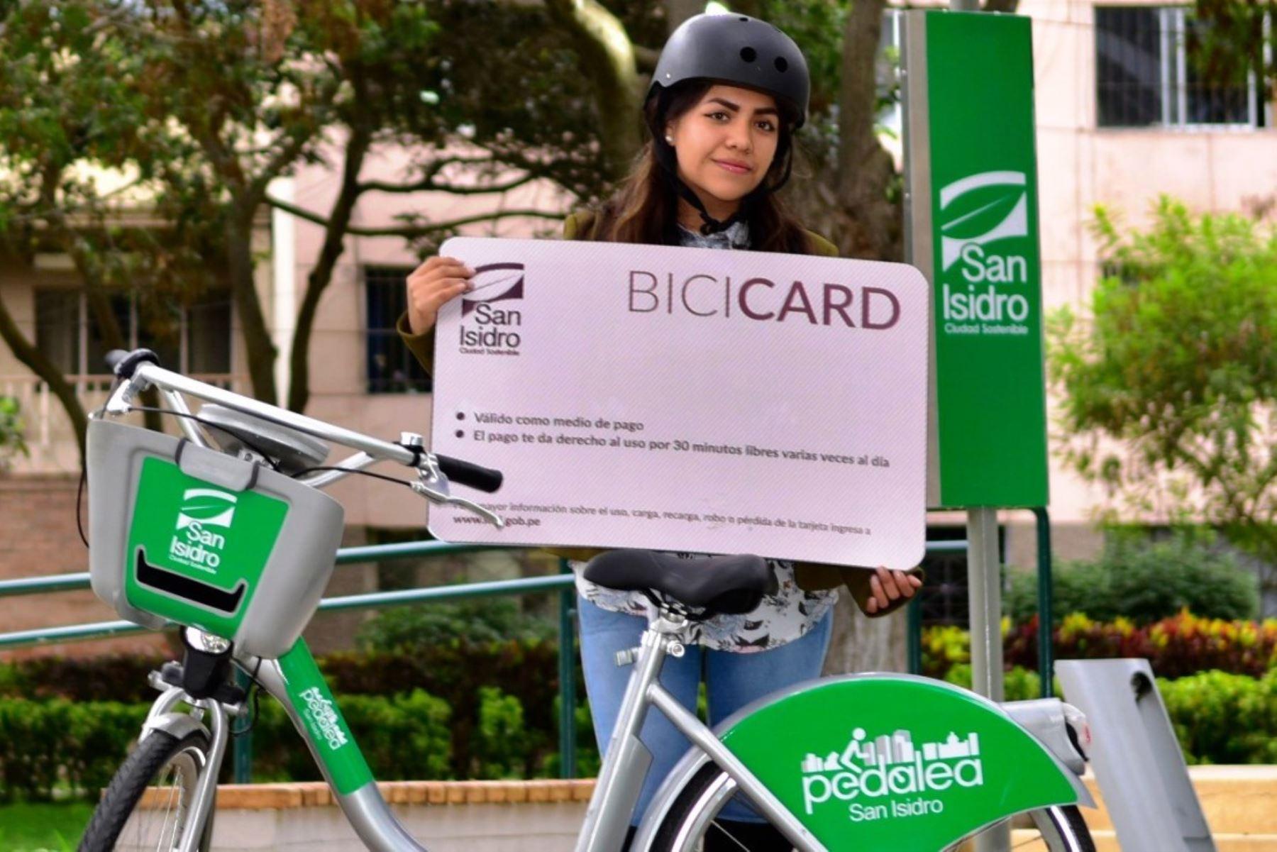 San Isidro lanzará en octubre un sistema público de bicicletas. Foto: ANDINA/Difusión.
