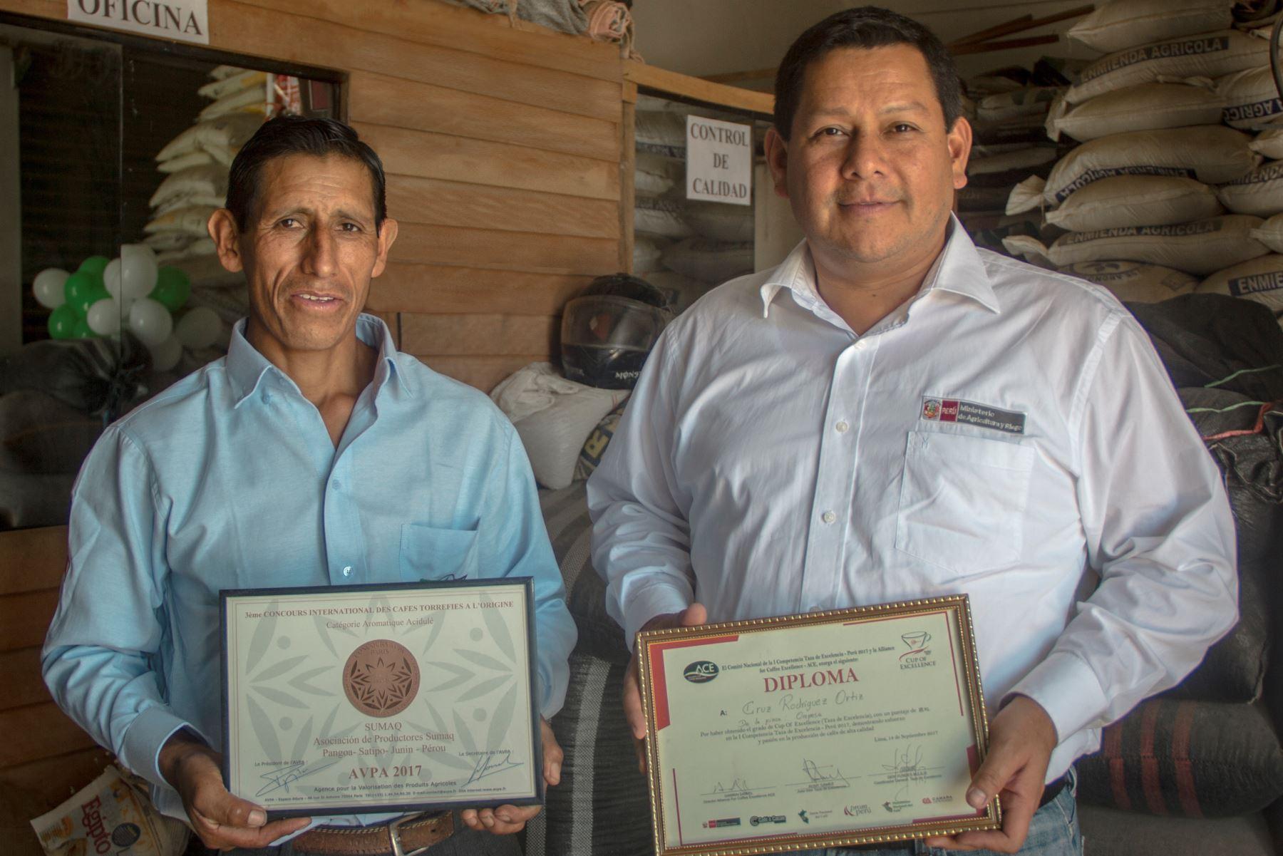 Con café de alta calidad productores del Vraem conquistan el mercado internacional. ANDINA/Difusión