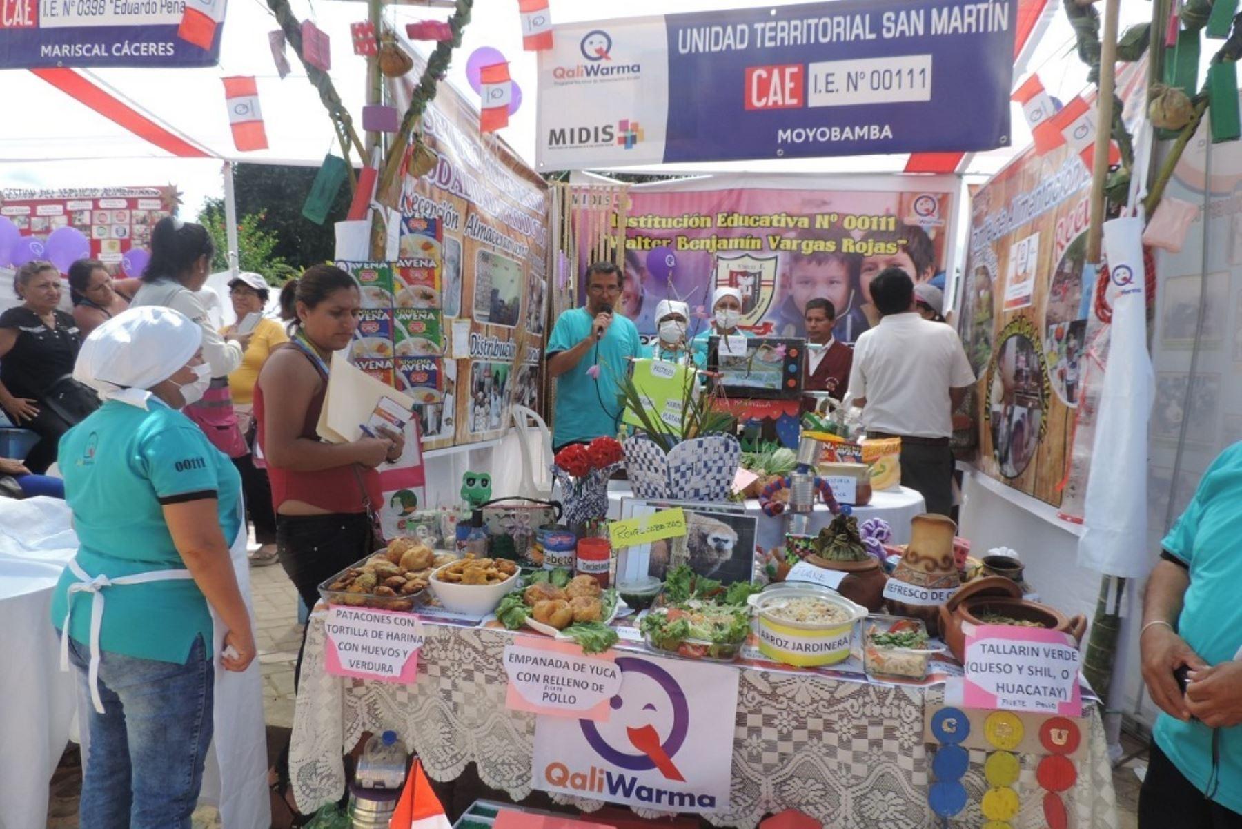Qali Warma incorporará productos de San Martín en servicio alimentario.Foto:  ANDINA.