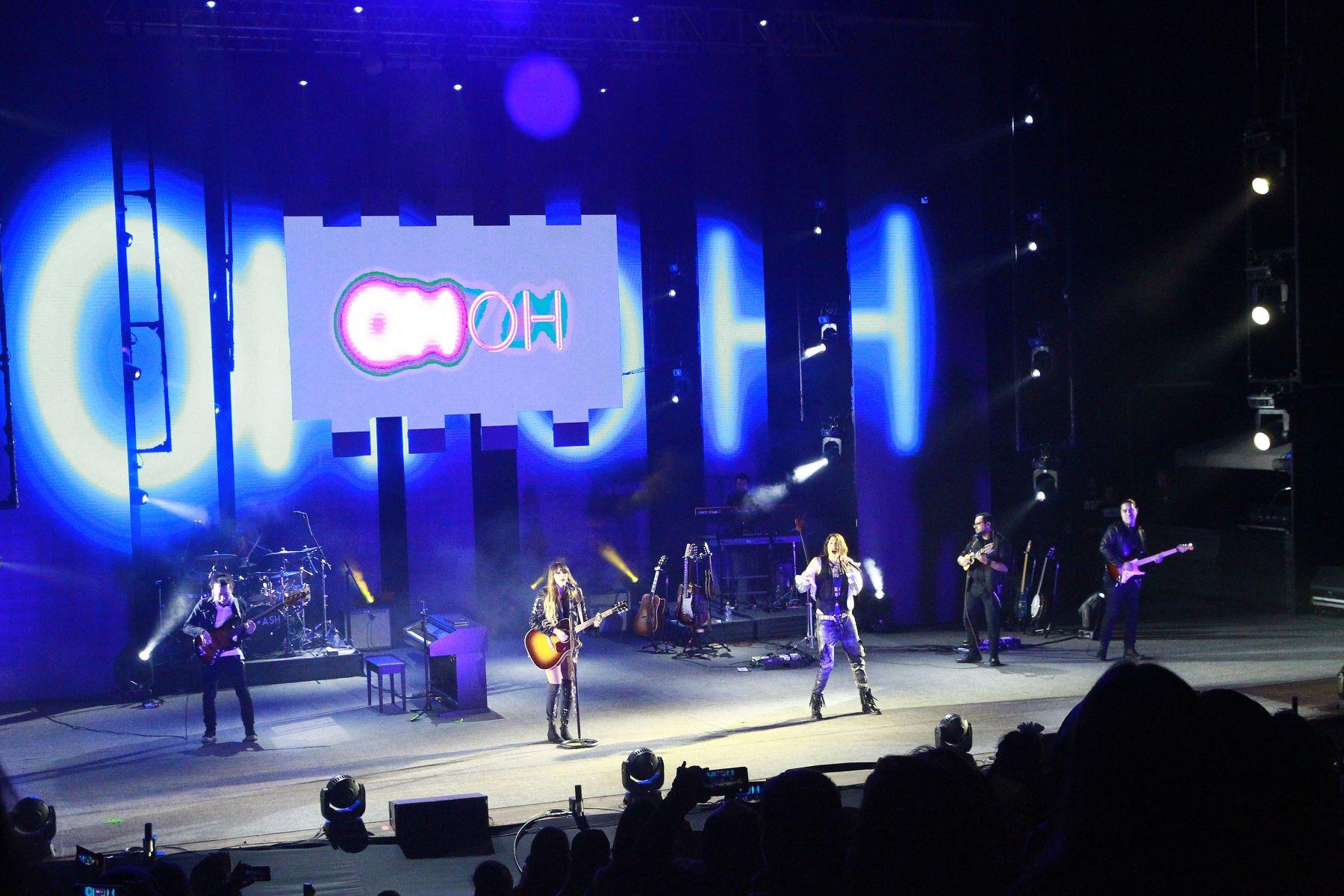 El dúo mexicano Ha*Ash dio un gran concierto en Lima, en el parque de la Exposición. Foto: ANDINA/Eddy Ramos.