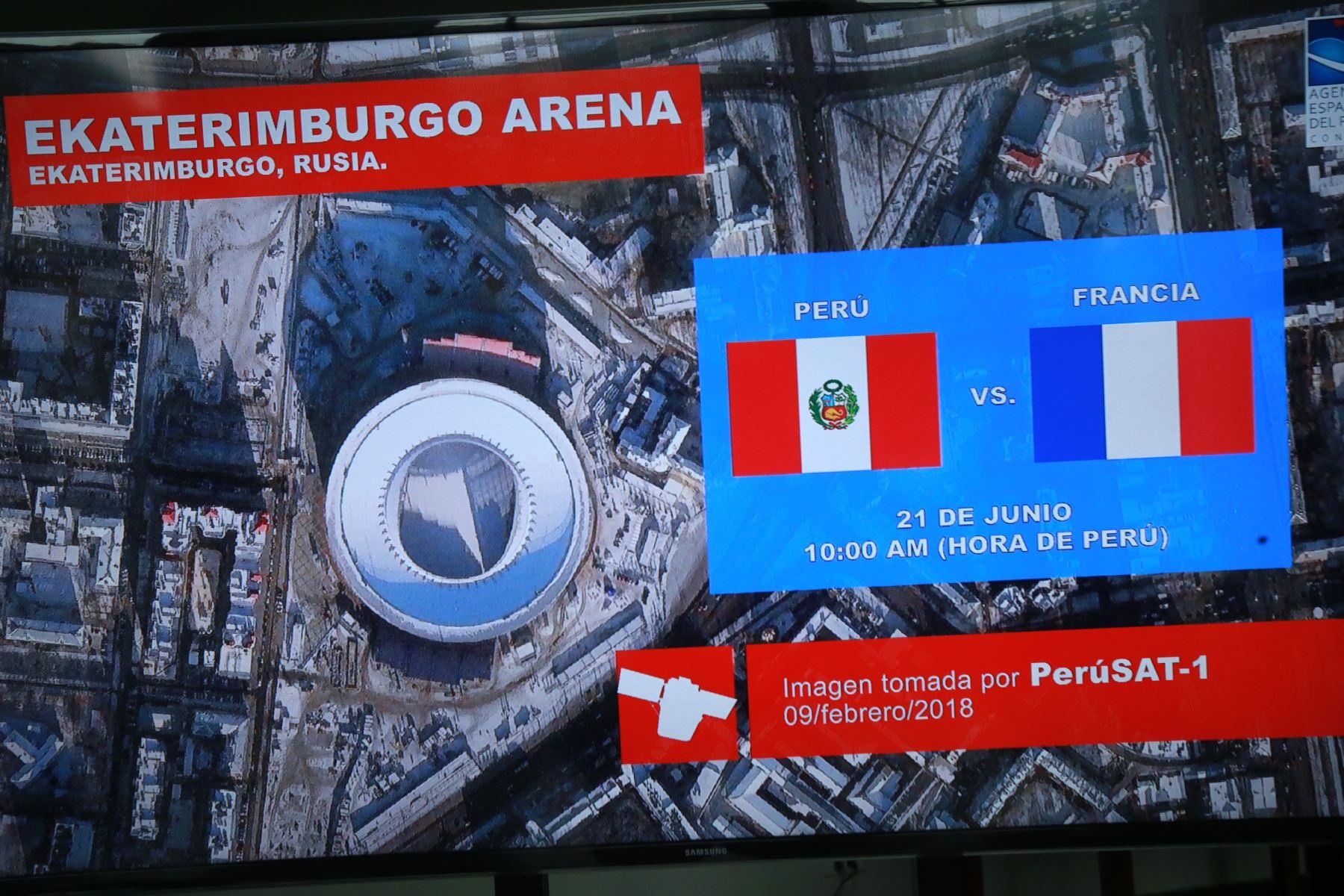 Estadio Fisht, vista de la Agencia Espacial del Perú-Conida. Foto: ANDINA/Norman Córdova.