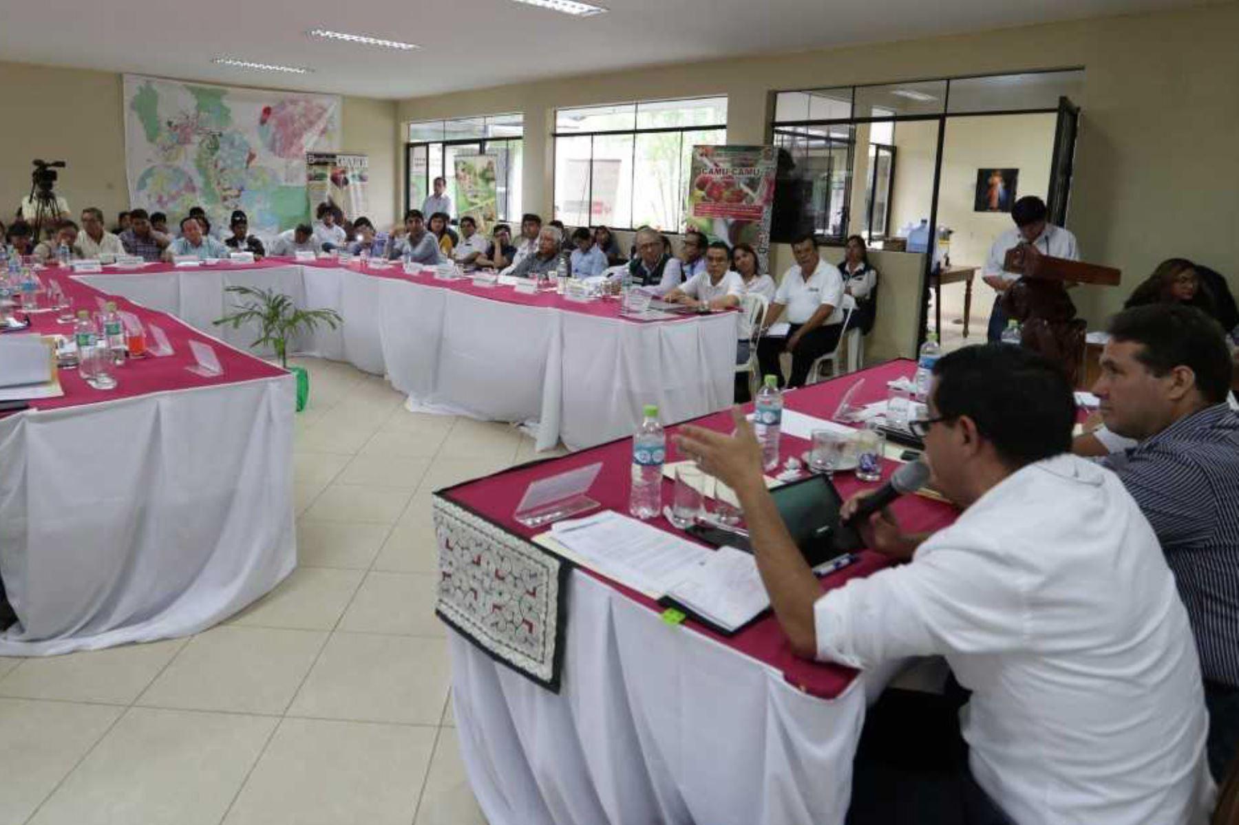 El viceministro de Construcción y Saneamiento, Juan Tarazona Minaya, presidió el cierre de la Mesa de Trabajo para el Desarrollo del Departamento de Ucayali, donde se constituyó el comité de seguimiento que se encargará de monitorear el cumplimiento de los compromisos pendientes asumidos por los sectores del Ejecutivo.