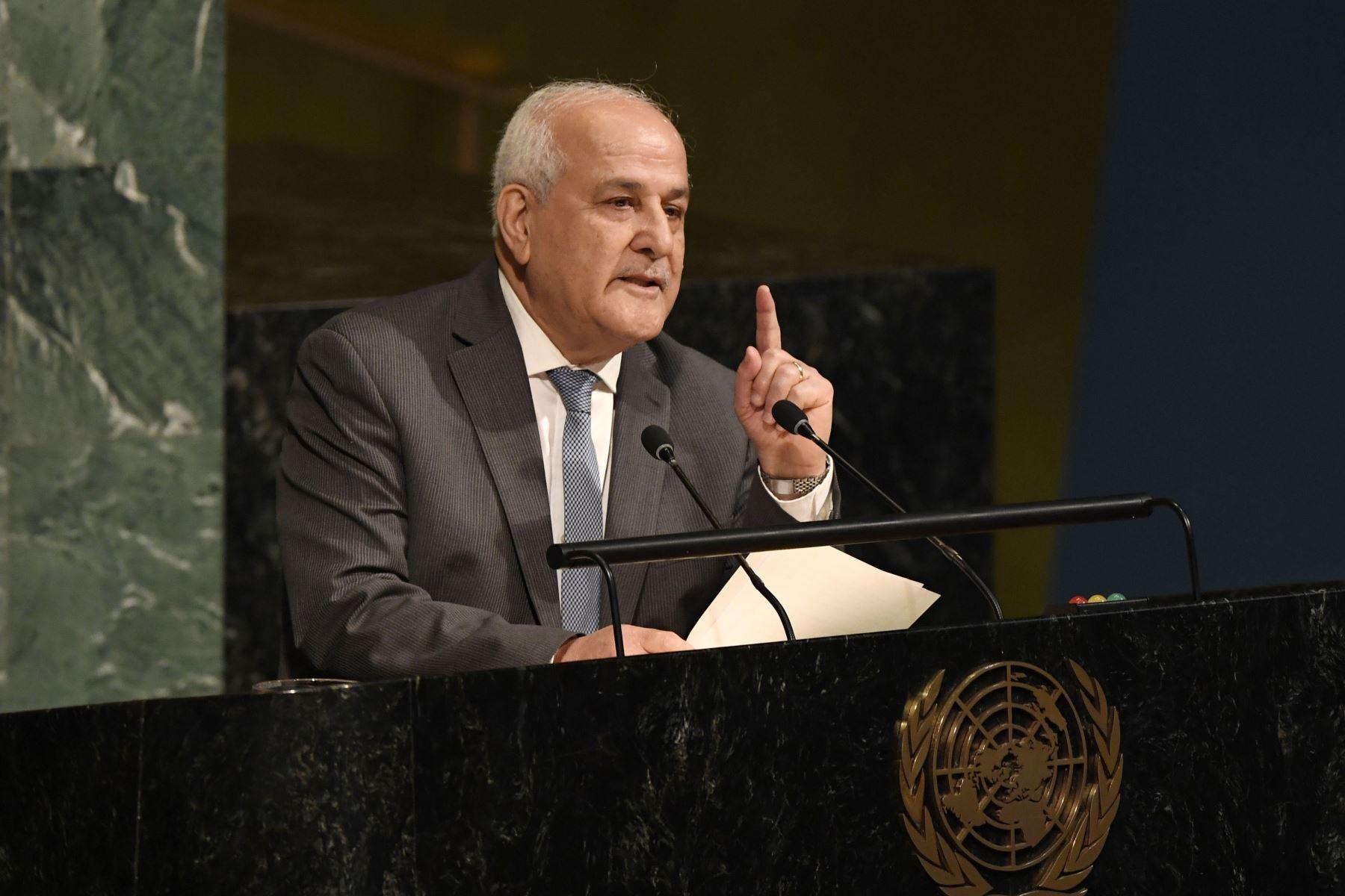 Embajador palestino en la ONU, Riyad Mansur Foto: EFE.