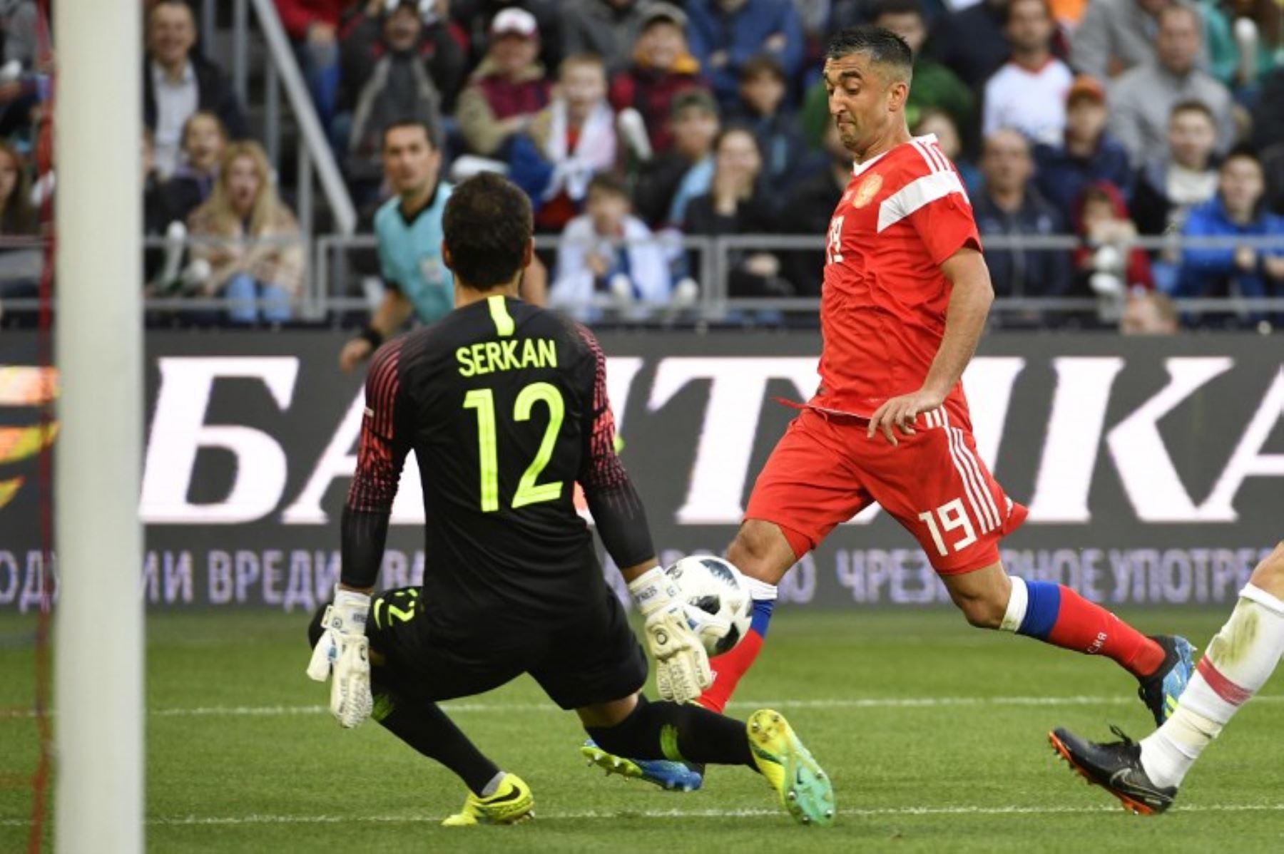 Aleksandr Samedov es el referente de ataque de la selección anfitriona del Mundial