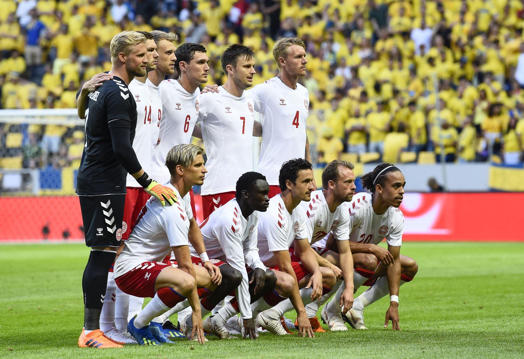 Selección de futbol de Dinamarca. Foto:AFP