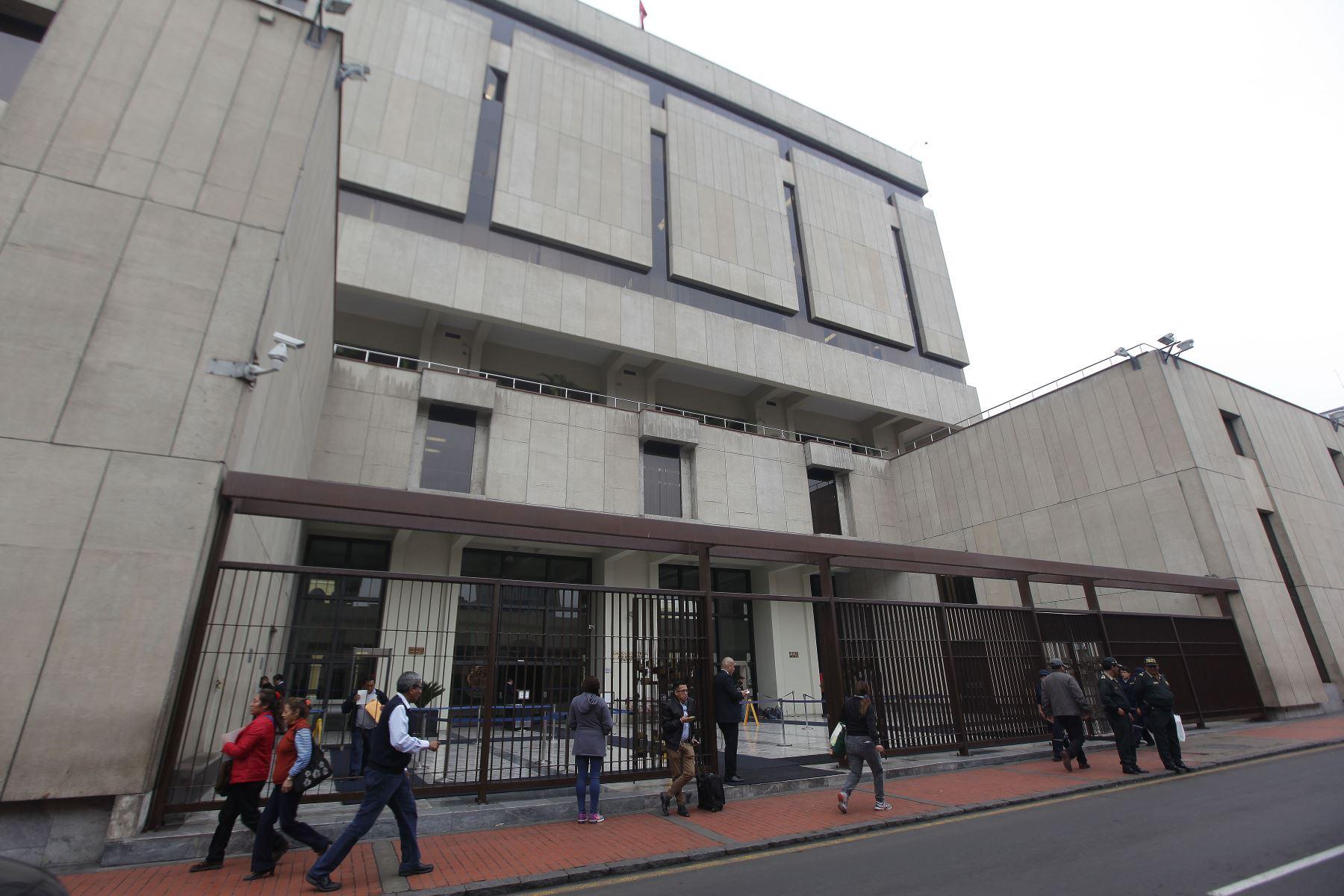 Sede del Banco Central de Reserva (BCR). Foto:ANDINA/Héctor Vinces.