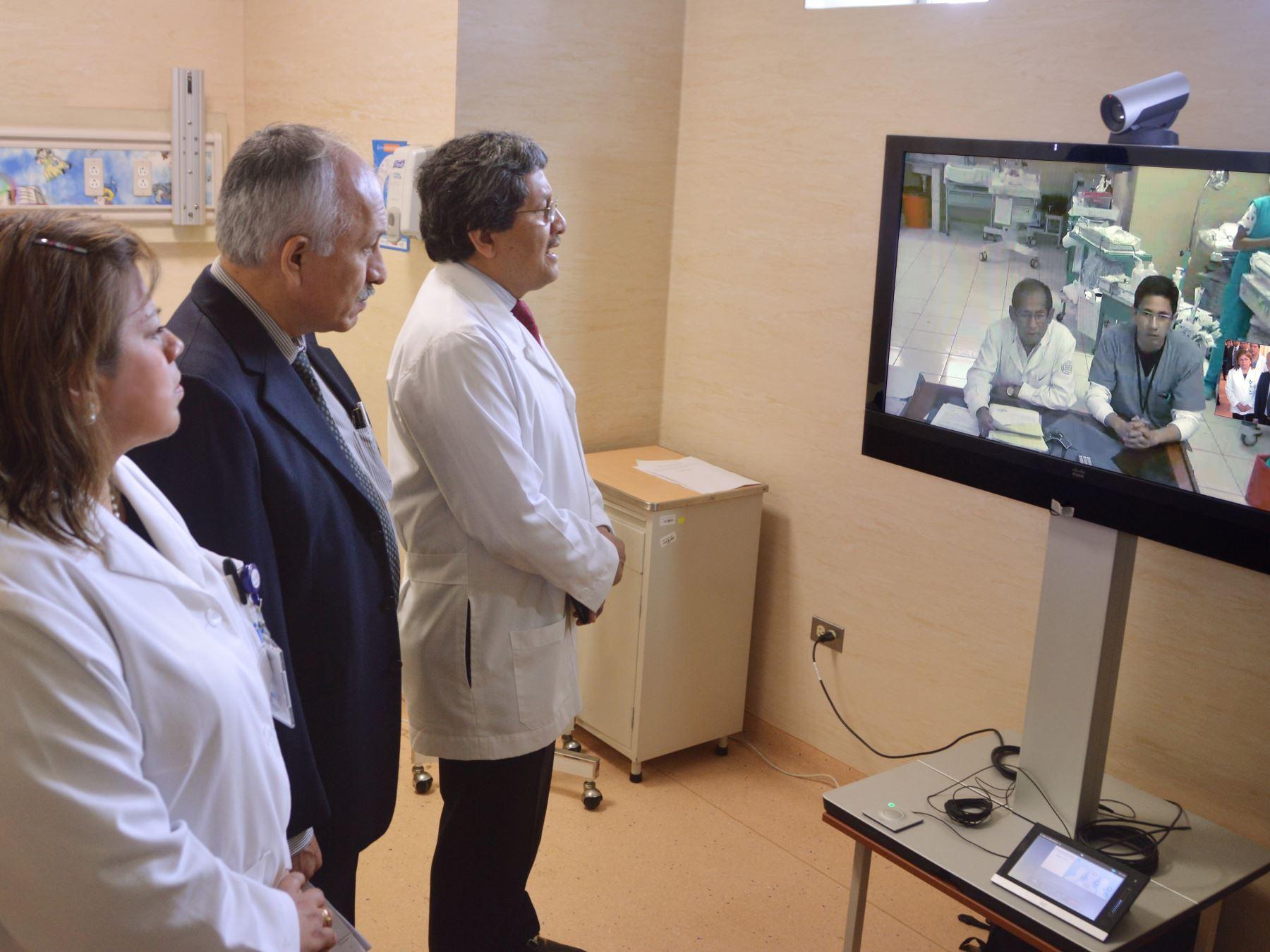 Instituto Nacional de Salud del Niño de San Borja, a la vanguardia en el uso de telemedicina para atender a niños, niñas y adolescentes de las regiones más alejadas del país.