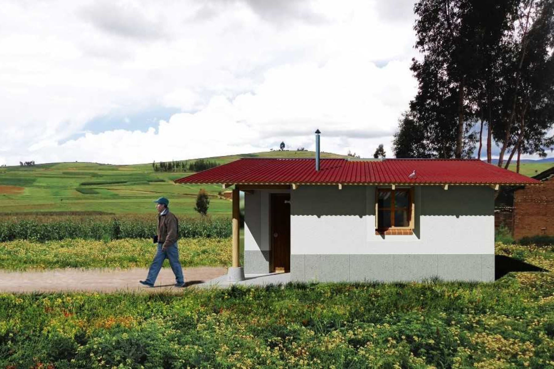 El Ministerio de Vivienda, Construcción y Saneamiento entregó 472 viviendas bioclimáticas en los centros poblados de Santa Rosa, Chauchura y Vista Alegre, en el distrito ayacuchano de Paras, provincia de Cangallo.