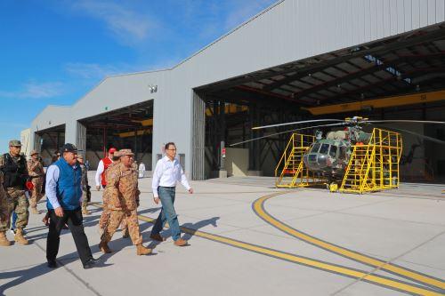 Presidente Martín Vizcarra  supervisó y entregó las obras ejecutadas en esta institución, que brindará servicios de mantenimiento y reparación a los helicópteros MI-17 de las Fuerzas Armadas