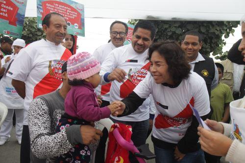 Ministra de Cultura; Patricia Balbuena, durante segunda jornada de lucha contra la anemia. Foto: Difusión.