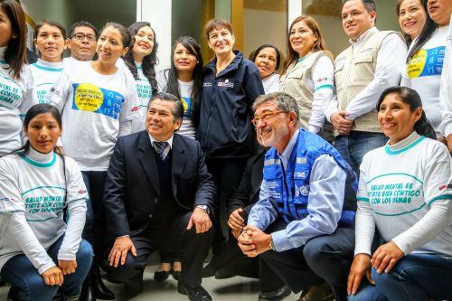 Ministra de Salud, inaugura Centro de Salud Mental Comunitario en Manchay, distrito de Pachacamac