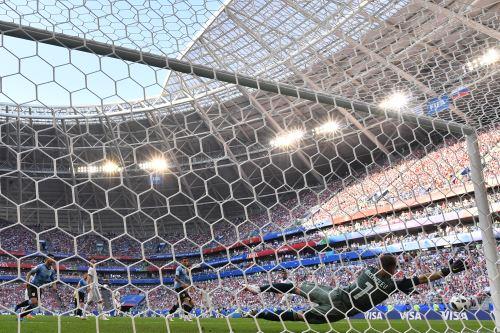 Uruguay vence  2-0  a Rusia por el Grupo A del Mundial Rusia 2018