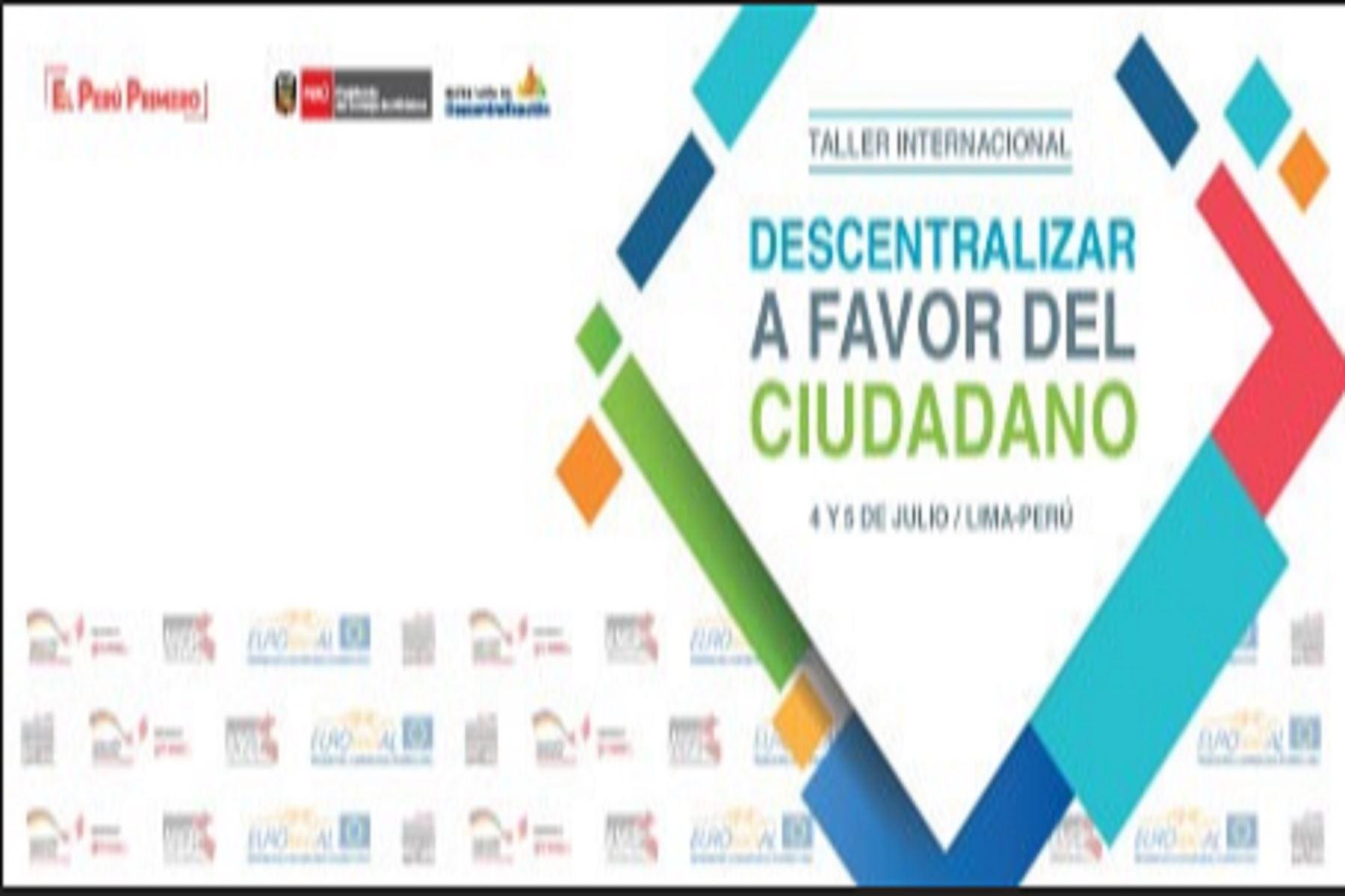 """Taller internacional """"Descentralizar a favor del ciudadano"""""""