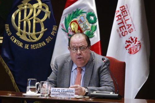 Presidente del BCR, Julio Velarde. ANDINA/Eddy Ramos