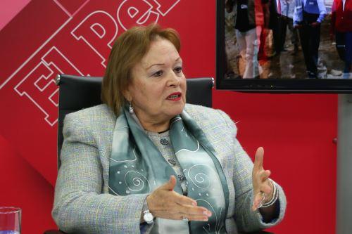 Presidenta de la Cámara de Comercio de Lima, Yolanda Torriani Foto: ANDINA/Dante Zegarra.