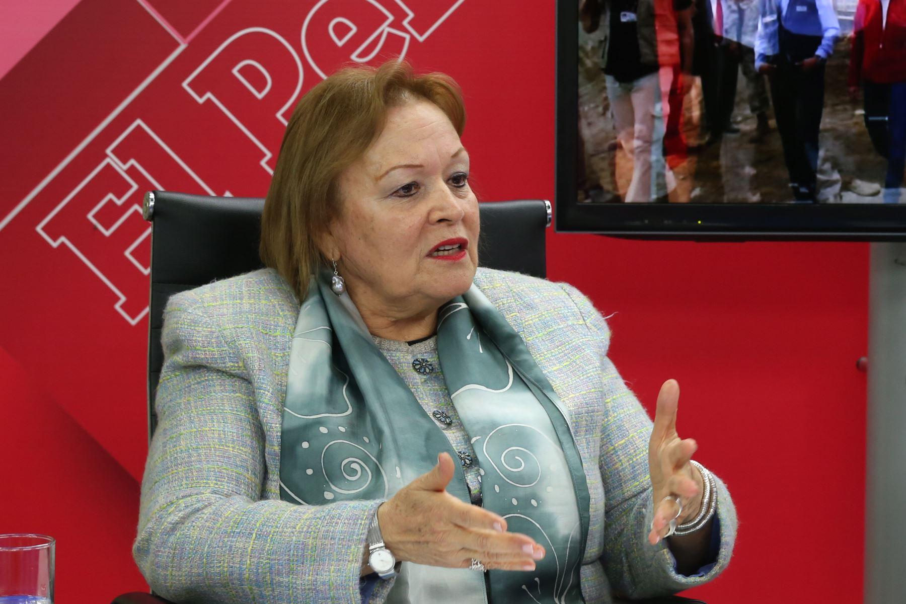 Presidenta de la Cámara de Comercio de Lima, Yolanda Torriani. ANDINA/Dante Zegarra