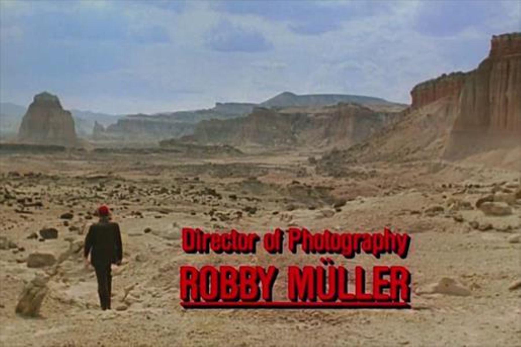 Escena de película cuya fotografía dirigió Robby Müller