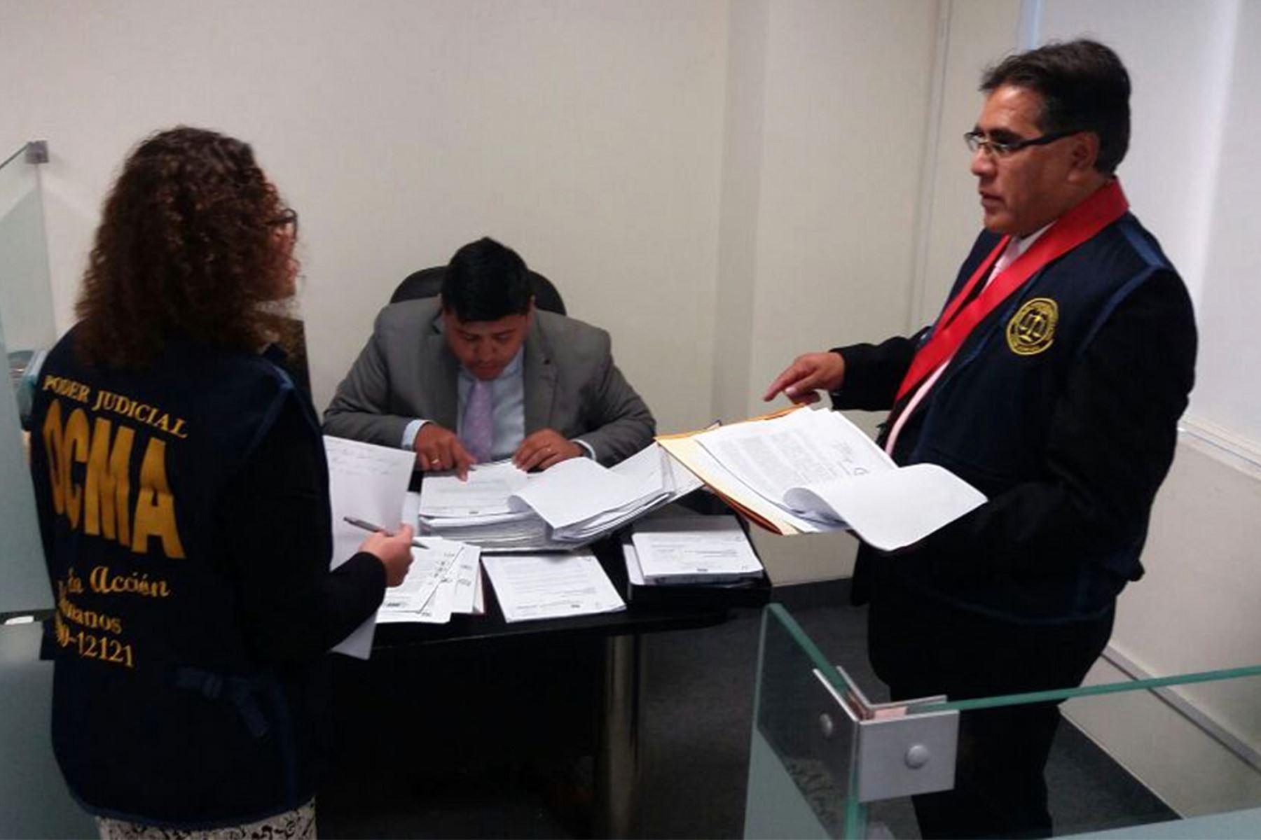 Operativo de la OCMA en la Corte Superior del Callao.