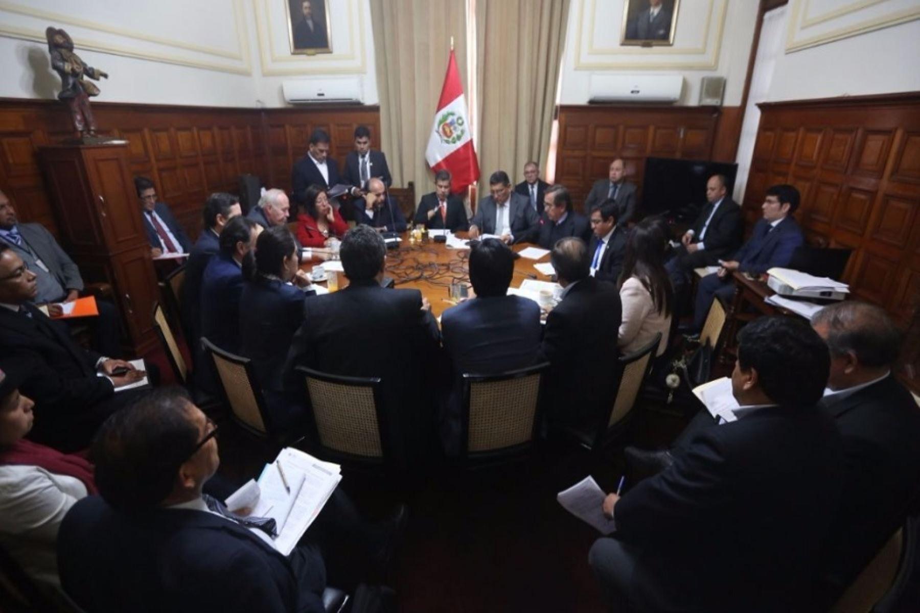 Junta de Portavoces del Congreso.