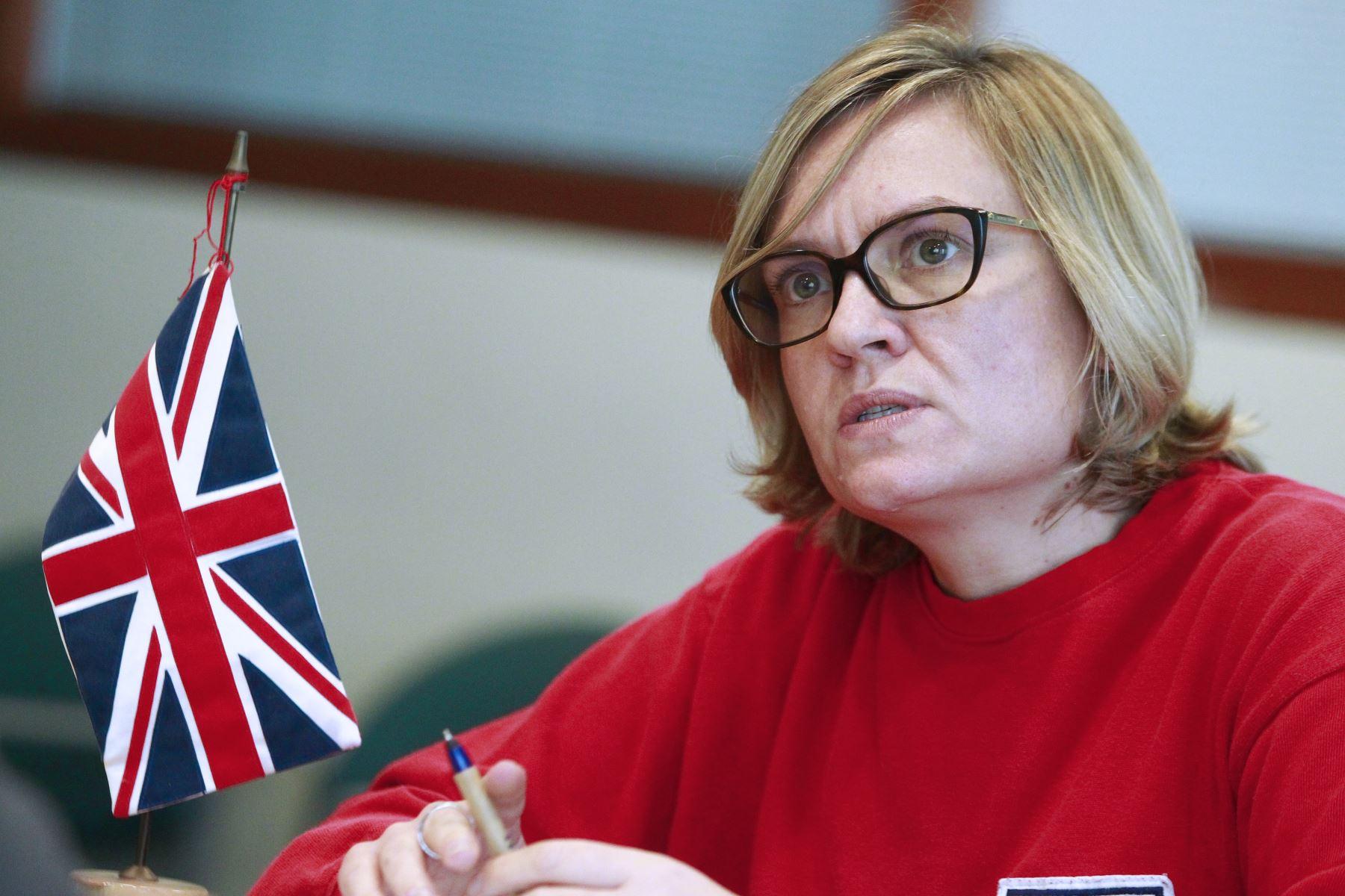 Embajadora Británica en Lima, Kate Harrison. ANDINA/Eddy Ramos