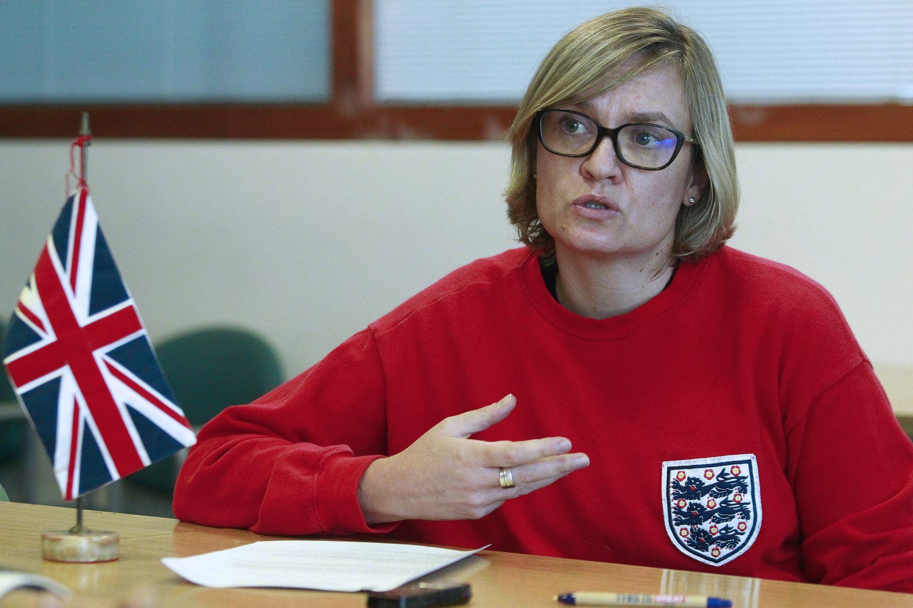 Embajadora del Reino Unido en Perú, Kate Harrisson. ANDINA/Eddy Ramos