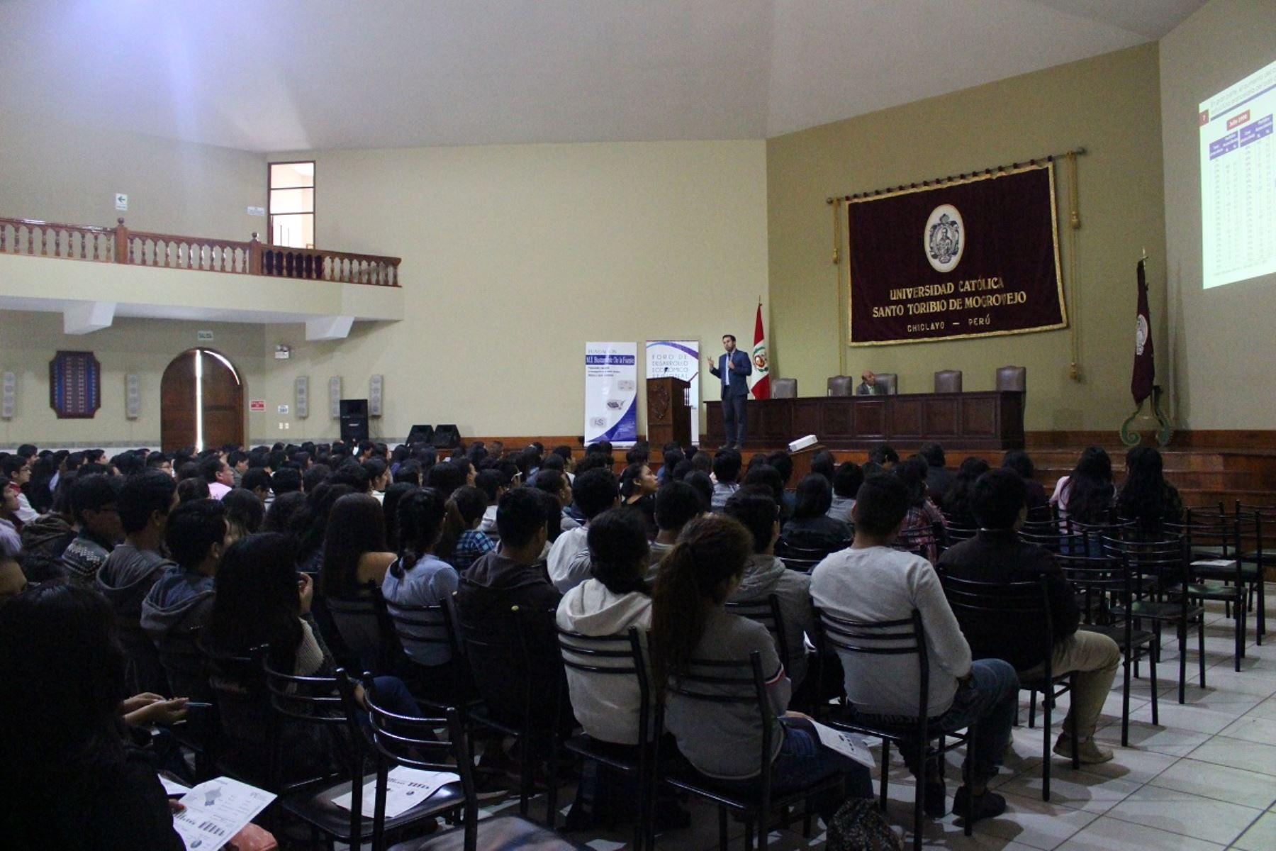 Exposición del IPE en Lambayeque. Foto: Cortesía.