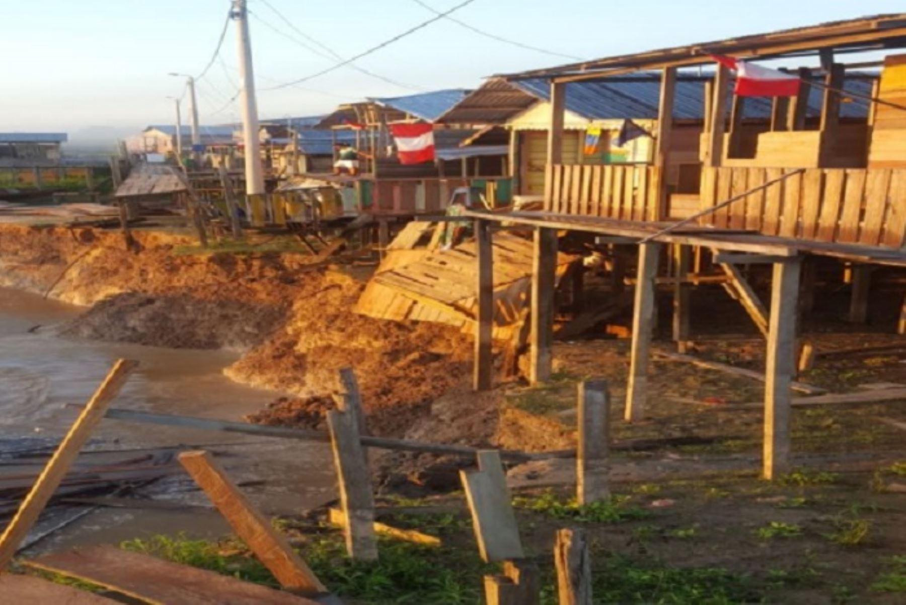 Loreto: reubican a familias damnificadas por erosión fluvial en distrito de Yavarí