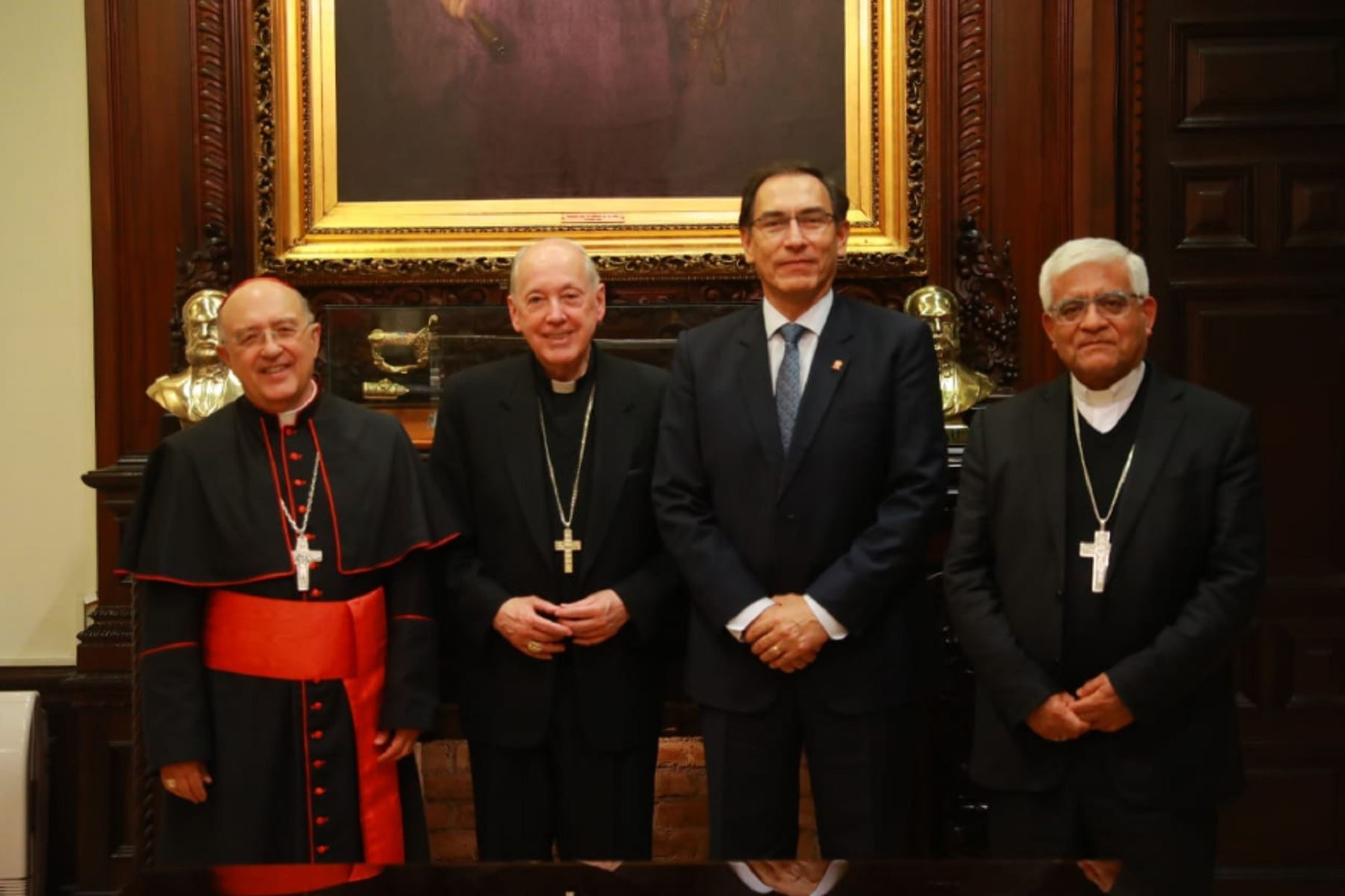 Presidente Martín Vizcarra se reunió con representantes de la Iglesia Católica