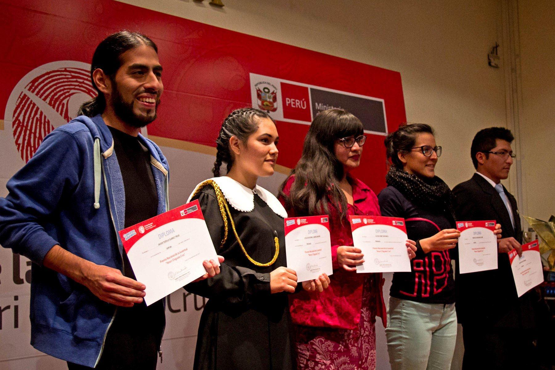 Minedu lanza convocatoria para Premio Nacional de la Juventud 2018. Foto: ANDINA/Difusión.
