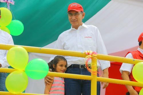 Presidente Martín Vizcarra visita distrito de Santa Rosa de la Yunga en Jaén