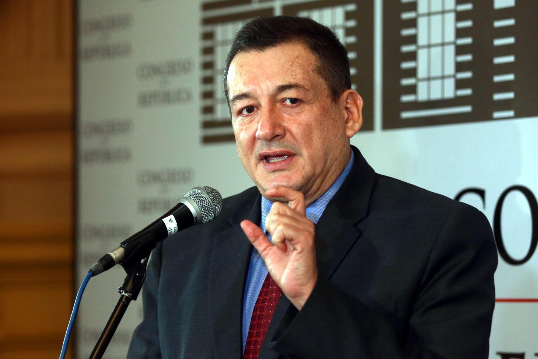 Legislador de Fuerza Popular, Rolando Reátegui. ANDINA/Jhony Laurente