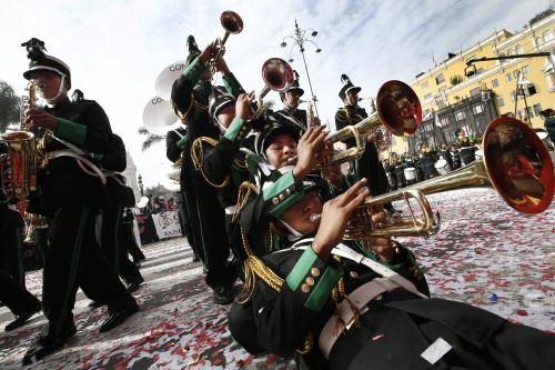 Festival de Bandas Escolares organizado por la Municipalidad de Lima