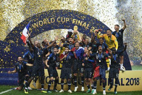 Francia campeón del mundial de Rusia 2018, en el Estadio Luzhniki de Moscú