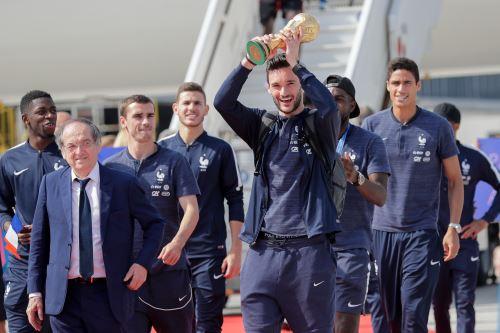 Francia recibe a su selección, campeona del Mundial de Rusia 2018