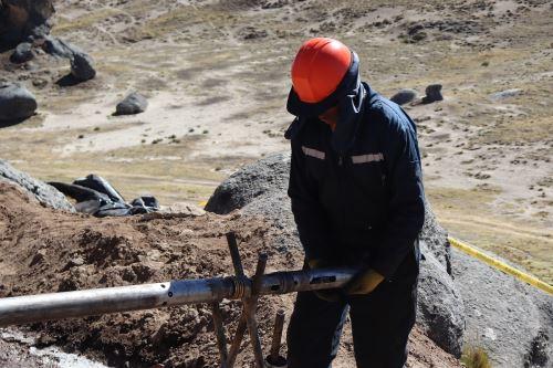 Trabajos de exploración de litio y uranio en Macusani, Puno. Foto: Cortesía.