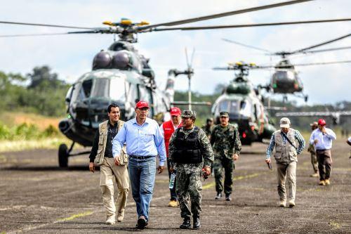 Presidente Martin Vizcarra supervisa Megaoperativo Armagedón, en Güeppí (Loreto)