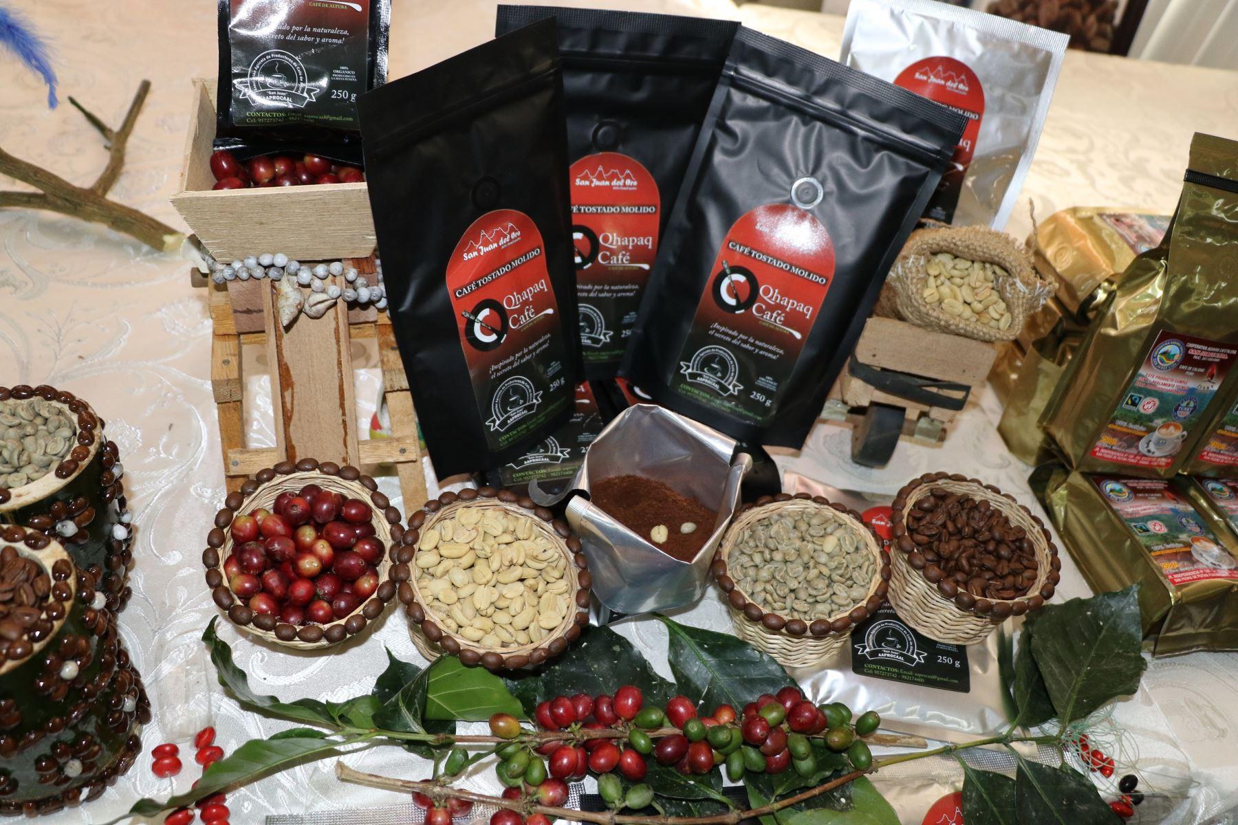 Caficultores de Puno mostrarán sus mejores variedades de café en feria por Fiestas Patrias. ANDINA