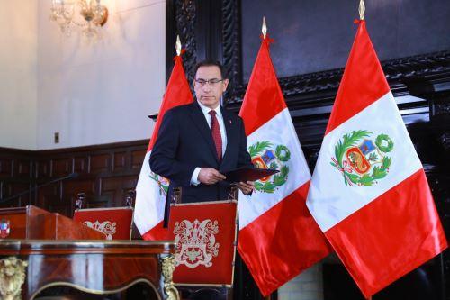 Jefe del Estado, Martín Vizcarra, convoca al Congreso a legislatura extraordinaria este viernes