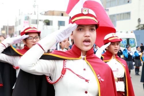 Ceremonia cívica por el 69 aniversario de creación de la Policía Escolar del Perú