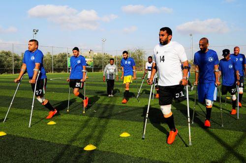 Equipo de fútbol de amputados de Gaza Foto: EFE