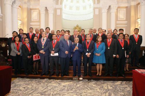 Presidente del Poder Judicial, Duberlí Rodríguez, anuncia que dicho poder del Estado fue declarado en emergencia.