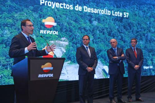 Jefe del Estado, Martín Vizcarra, participa en la ceremonia de inauguración de proyectos de desarrollo en el Lote 57 (Cusco)