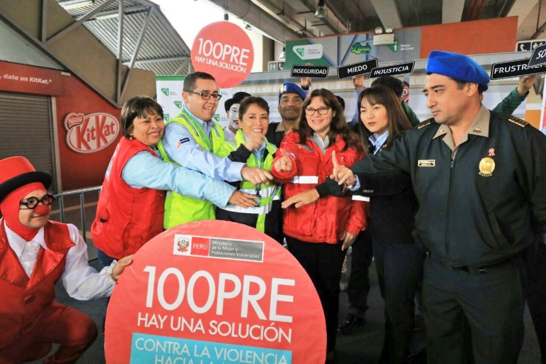 Ministerio de la Mujer y el Metro de Lima se unen para prevenir acoso sexual. Foto: ANDINA/Difusión.