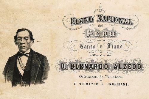 Afiche con la imagen de José Bernando Alcedo Foto:ANDINA/Difusión
