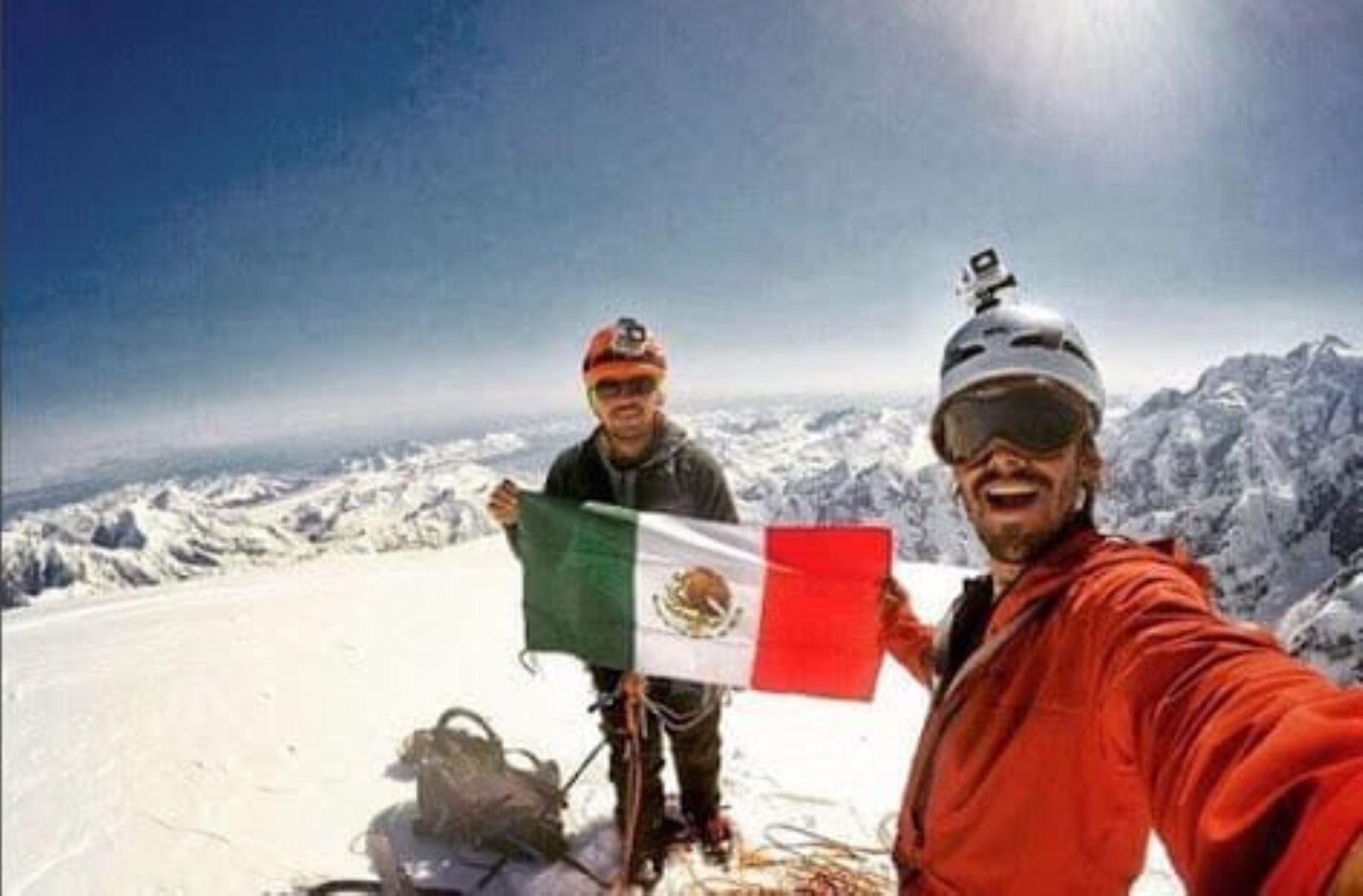 Montañistas mexicanos, Daniel Araiza y Enrique Gonzalez mueren en el nevado Artesonraju, en Áncash. Foto: Daniel Araiza/Facebook