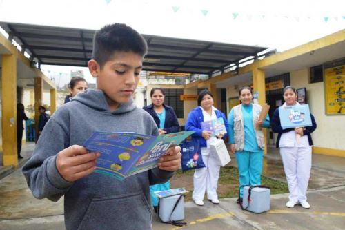 Minsa refuerza vacunación contra el sarampión en San Juan de Lurigancho. Foto: ANDINA/Difusión.