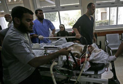 Palestino herido por disparos del ejército israelí Foto: AFP