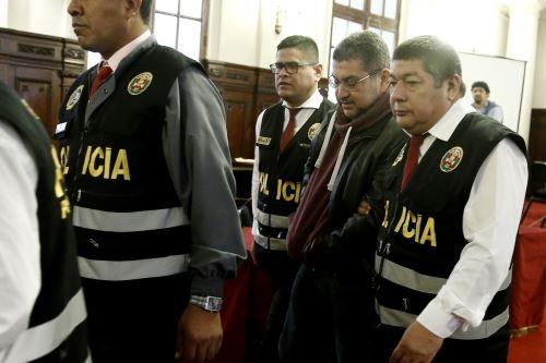 Sala que evalúa prisión preventiva contra Walter Ríos entró en receso