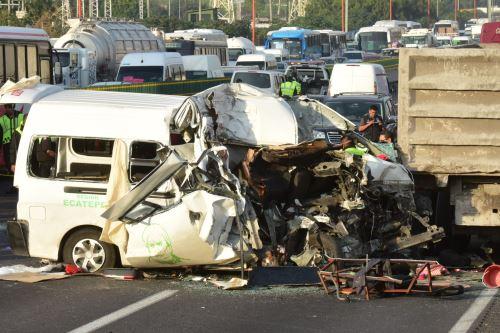 Accidente automovilístico en México Foto: AFP