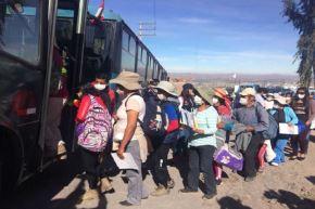 Arequipa: pobladores participan activamente de simulacro de erupción volcánica